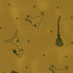 CP-K  -  Witch Collage Fabric - Gold (FHM)