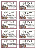 T 6  -  Gift Card Inserts