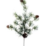 Greenery - Pick w/ Snow & Pinecones-