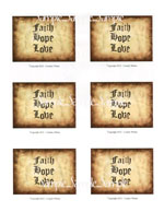"T27 - ""Faith, Hope, Love"" Sayings"