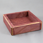 "Wooden Shadow Box - 6"" Square - Barn Red"
