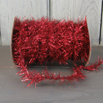 Vintage Tinsel Garland - Red