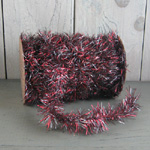 Vintage Tinsel Garland - Red/Silver Mix