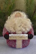 525 - Frosted Santa Pattern