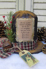575 - Vintage Snowman Hat Pattern