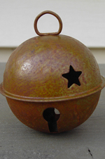 Rusty Bell with Star - 60mm