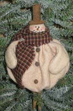 635 - Snowman Clothespin Ornie Pattern