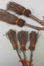 Brooms - Round Dried Pine