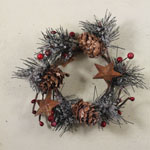 Candle Ring - Christmas Greenery