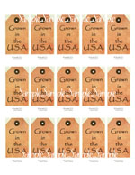 "T33 - ""Grown in the USA"" Hang Tags"