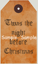 "T37 - ""Twas the Night Before Christmas"" Mini Sign"