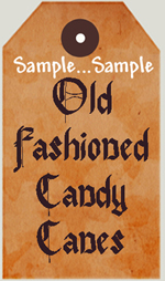 """T44 - """"Old Fashioned Candy Canes"""" Tags"""