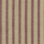 Homespun Fabric - A64  (Primitive Burgundy Ticking)