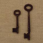 Rusty Metal Skeleton Keys