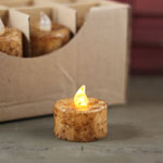 Grungy Tealight Candle (Battery Operated) Switch - Light Finish